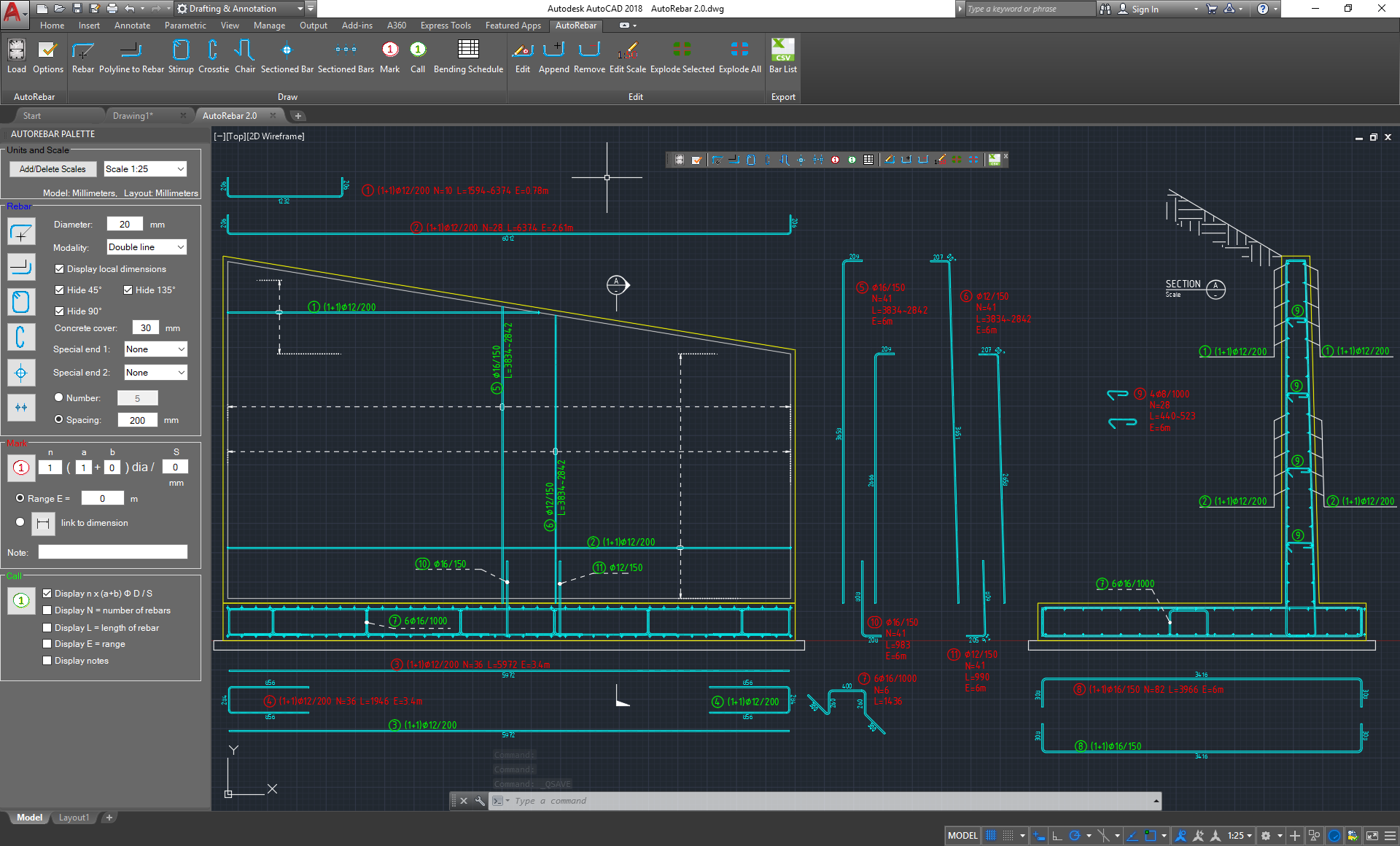 AutoRebar – Rebar detailing software for AutoCAD